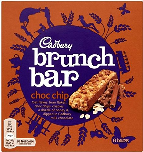 Cadbury Chocolate Chip Brunch Bars (6x32g) - Packung mit 6 -