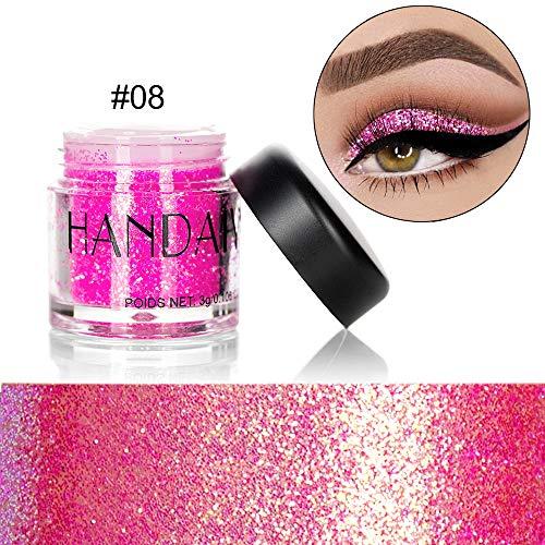 PNING Monochrome Pailletten Lidschatten Pulver Schimmer Glitter Lidschatten Pulver Palette Matte Lidschatten Kosmetik Make-Up