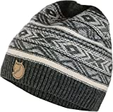 Fjällräven Övik Folk Knit Beanie, Dark Grey, One Size