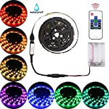 abtong Led Lights Strip battery Operated, Led Strip Lights Kit RGB battery led lights with remote Waterproof Multi Color Changing Lights for Wedding Christmas and Any DIY-2M/6.56Ft