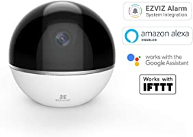 Ezviz Full HD 1080p Wi-Fi Indoor Smart Home Security Camera, With Motion Tracking and Pan/Tilt, Works with Alexa and...