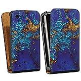 DeinDesign Apple iPhone 3Gs Étui Étui à Rabat Étui magnétique Marbre Bleu...