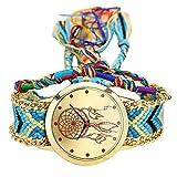 Armbanduhr Damen Uhr Xinnantime Native Handmade Vintage Traumfänger Freundschaft Analoge Quarz Damenuhr Frauen Farbe 8 (Standard, F)