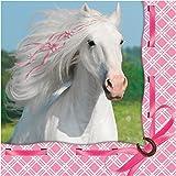 Weißes Pferd – Servietten, 16er Pack, 33cm x 33cm, 3-lagig, Partyservietten