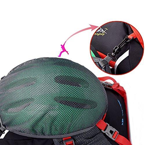 18LFahrrad Rücksack mit Regenschutzkappe Wasserabweisend Fahrrad Schulter Rucksack Wasser Reisetasche Ultralight für Radsport Outdoor Reiten Bergsteigen Hydration-Gold drogon Rot