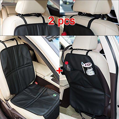 FREESOO Auto Rücksitzschutz Universal Car Seat Protector Kissen Wasserdicht Rutschfeste PU Wasserdichte Sitzprotektoren Schützt Baby/Kindersitz Beschichtung