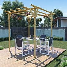 Tidyard Pérgola para Jardin Cenador para Jardin Arco de Jardin para Plantas Arco para Rosas Arco
