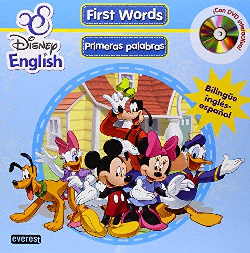 Disney English. First Words (Primeras palabras) + DVD: Bilingüe inglés-español. ¡Con DVD interactivo! (Singulares Disney English) por Walt Disney Company