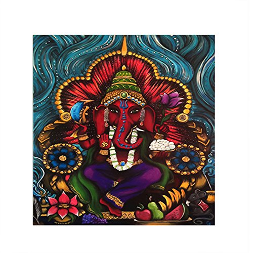 little finger Heiliger indischer Elefant Gottheit Ganesha Wandbild, Rahmenlos, Art Decor, Canvas, 3#, Large - Ganesha-bild