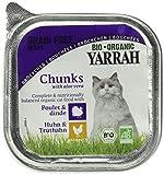 Yarrah Bio Katzennassfutter Bröckchen Huhn und Truthahn mit Aloe vera, 100 g