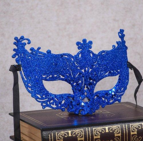 rinzessin Masquerade Maske Kostüm Party Halbmaske (blau) ()
