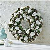 Osterkranz mit künstlichen Eiern grün/weiß Ø 35 cm
