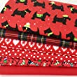 Always Knitting And Sewing Polycotton christmas fat quarter bundle