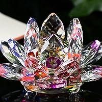 artistic9(TM) figura de cristal Lotus Pisapapeles adorno decoración para el hogar, vidrio, colorido, 60 cm