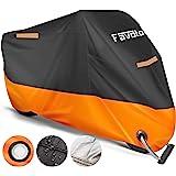 Favoto Telo Coprimoto 210D Teli per Moto Scooter Impermeabile Resistente ad Acqua/Polvere/Pioggia/Vento/Foglie, Copertura Mot