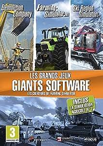 Coffret Les Grands Jeux Giants Software - Demolition Company + Farming Simulator 2011 + Ski Region Simulator 2012