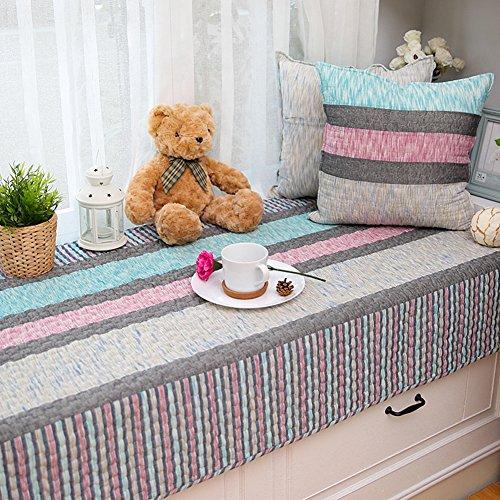 Anti-rutsch baumwolle tatami kissen bay fenster kissen abdeckung sitze sill pad bank mat sofa matte teppich für wohnzimmer schlafzimmer -D 70x210cm(28x83inch) (Zeitgenössische Traditionellen Sofa)