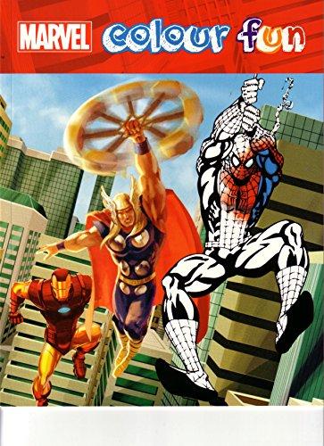 Marvel Libro Da Colorare Motivo Spiderman Batman Hulk Capitan