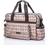 Allis Fashion Tote Changing Bag (Red/Grey)