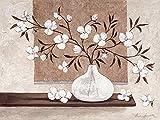 Keilrahmen-Bild - Claudia Ancilotti: Gipsy 60 x 80 cm Leinwandbild modernes Stilleben mit Vasen Zweigen Blüten in braun
