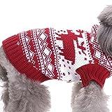 YZBear Hundebekleidung Hundemantel Hundejacke Weihnachten Rentier Hundepullover Warm Winter für kleine und große Hund - 4