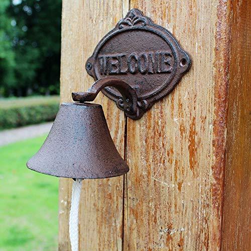 SMLZV Admite tarjetas mano Puerta Bell Europea retro