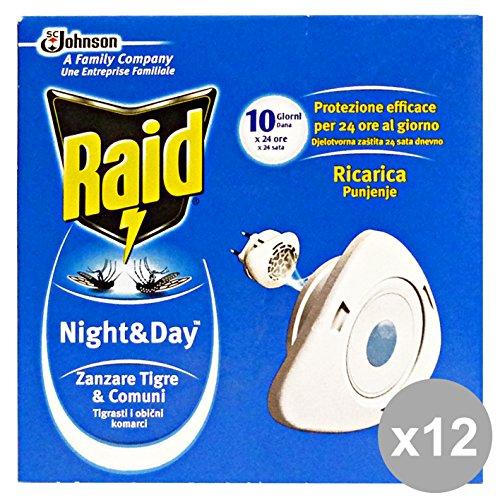 set-12-raid-nightday-fornello-ricarica-zanzare-mosche-zanzare-articoli-per-insetti