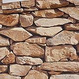 3D Piedra Pegatina Impermeable Papel Pintado Decorativo para Mesa y Mueble de Cocina y Escritorio y Armario y Puerta y Pared 32.8ftx1.73ft