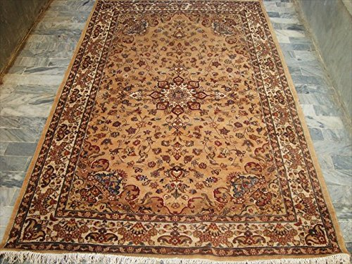 rectangle-zone-tapis-beige-tan-flowral-noues-a-la-main-en-soie-laine-carpet-8-x-5-