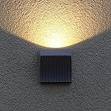 ZHAS Außen-Wandleuchte moderne, minimalistische LED Outdoor Wandleuchte Außentreppe Gang Lichter wasserdicht Villa Innenhof Balkon Wandleuchte outdoor Wandleuchte