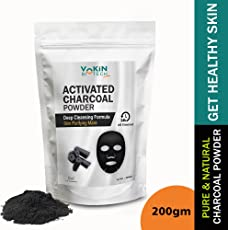 Vokin Biotech Activated Charcoal Powder (For Face mask, Teeth whitening & Teeth Cleaning, Skin Treatment) (200gm)