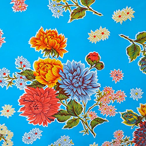 mantel-de-hule-para-mesa-120-cm-ancho-largo-por-medio-metros-modelo-flor-crisantemo-azul-celeste-fan