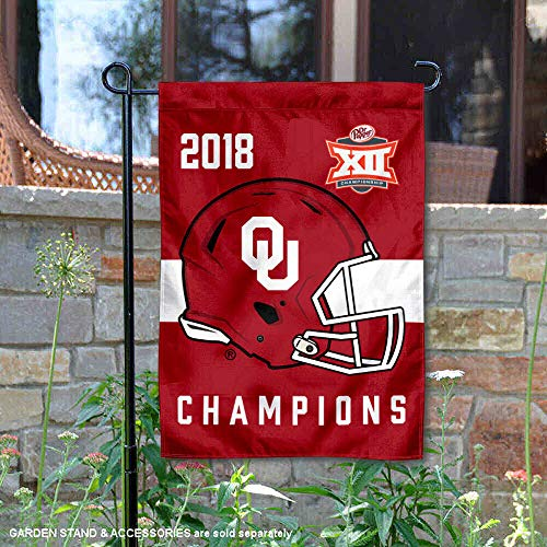 Oklahoma Sooners 2018 Fußball Conference Champions Garten Fahne -