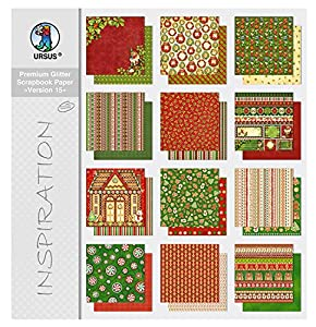 Ursus 71710099 Arte de papel 12hojas - Papel decorativo (Arte de papel, 12 hojas, Niño/niña, 190 g/m², 30,5 cm, 30,5 cm)