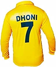 Amaze CSK IPL T-20 Cricket Full Sleeve Dhoni 7 Premium Jersey 2018