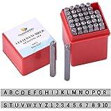 PandaHall Elite 36-delig ijzeren cijferpons, letter alfabet A-Z en nummer 0-9 zegelstempels, zwart, 4 mm alfabet en nummer