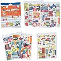 Pegatinas para Scrapbook y para el Planificador Busy Days de Boxclever Press. 238 stickers de familia y amigos. Pegatinas para Bullet Journal y Planificador. Pegatinas Ilustradas.