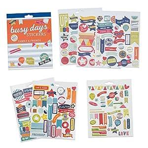 Boxclever Press Stickers Planner & Agenda. Autocollants pense-bêtes avec thème famille & amis (238 total). En papier feuille d'or illustré & vif, vinyle & en relief pour planners et bullet journals