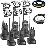 BaoFeng BF-888S Two Way Radio With Built In LED FlashLight (Pack Of 6) +Covert Air Acoustic Tube Headset Earpiece