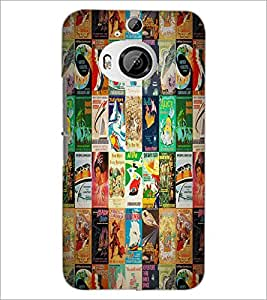 PrintDhaba Books Pattern D-4531 Back Case Cover for HTC ONE M9 PLUS (Multi-Coloured)
