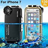 waterproof case Coque étanche For iPhone 7/7 Plus IPX8 waterproof 40M Diving Case By AIGUMI (IP7-noir)