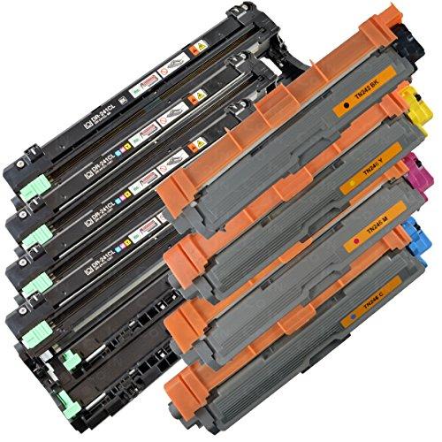 4x TONER IBC + 4x TROMMEL IBC für BROTHER DCP-9015 CDW / DCP-9017 CDW / DCP-9020 CDW / DCP-9022 CDW 3
