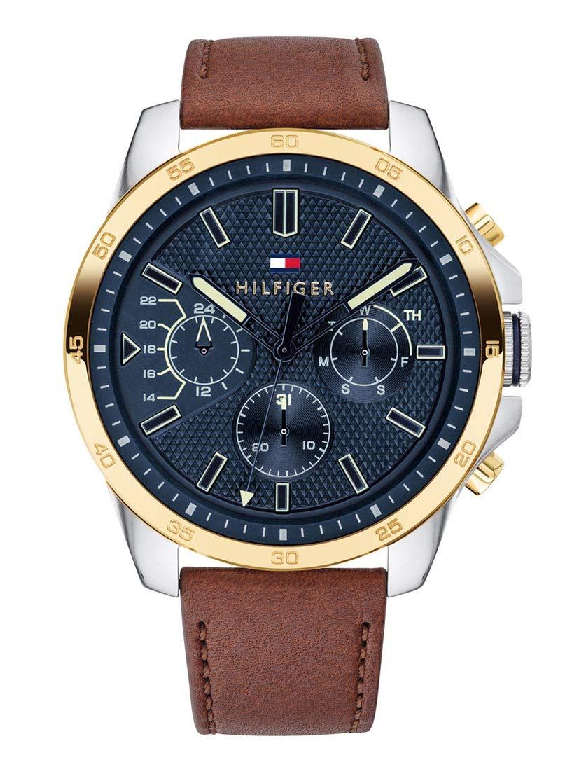 4a14b61a29ed Tommy Hilfiger Reloj Multiesfera para Hombre de Cuarzo con Correa en Cuero  1791561