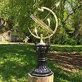 Antikas - Astrologische große Sonnenuhr - Park Dekoration Landhaus Gartenuhr