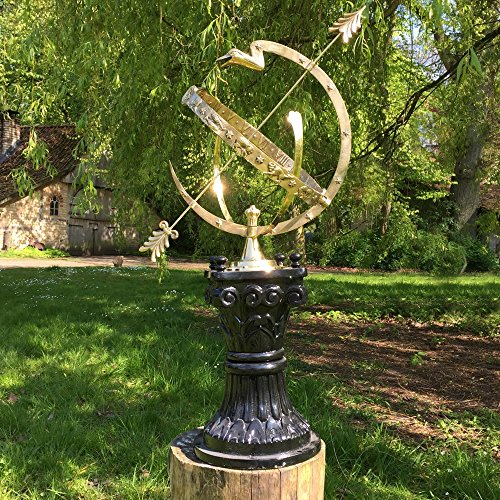 Antikas - Astrologische große Sonnenuhr - Park Dekoration Landhaus Gartenuhr - Schattenuhr