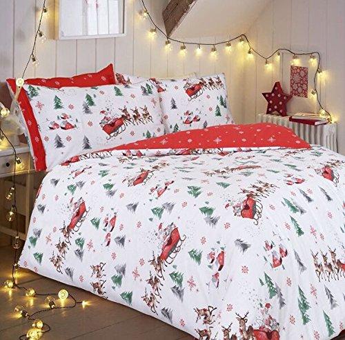 Christmas is here... lenzuola slitta di partenza £ 9.89, Singolo