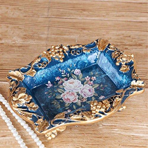 Inizio stile europeo vaso creativo della decorazione del salone multifunzionale scatola del tessuto di frutta piatto posacenere Tre set Quattro set Imposta soggiorno di lusso Retro Tatuaggi , c - 4 C Gemme Gioielli