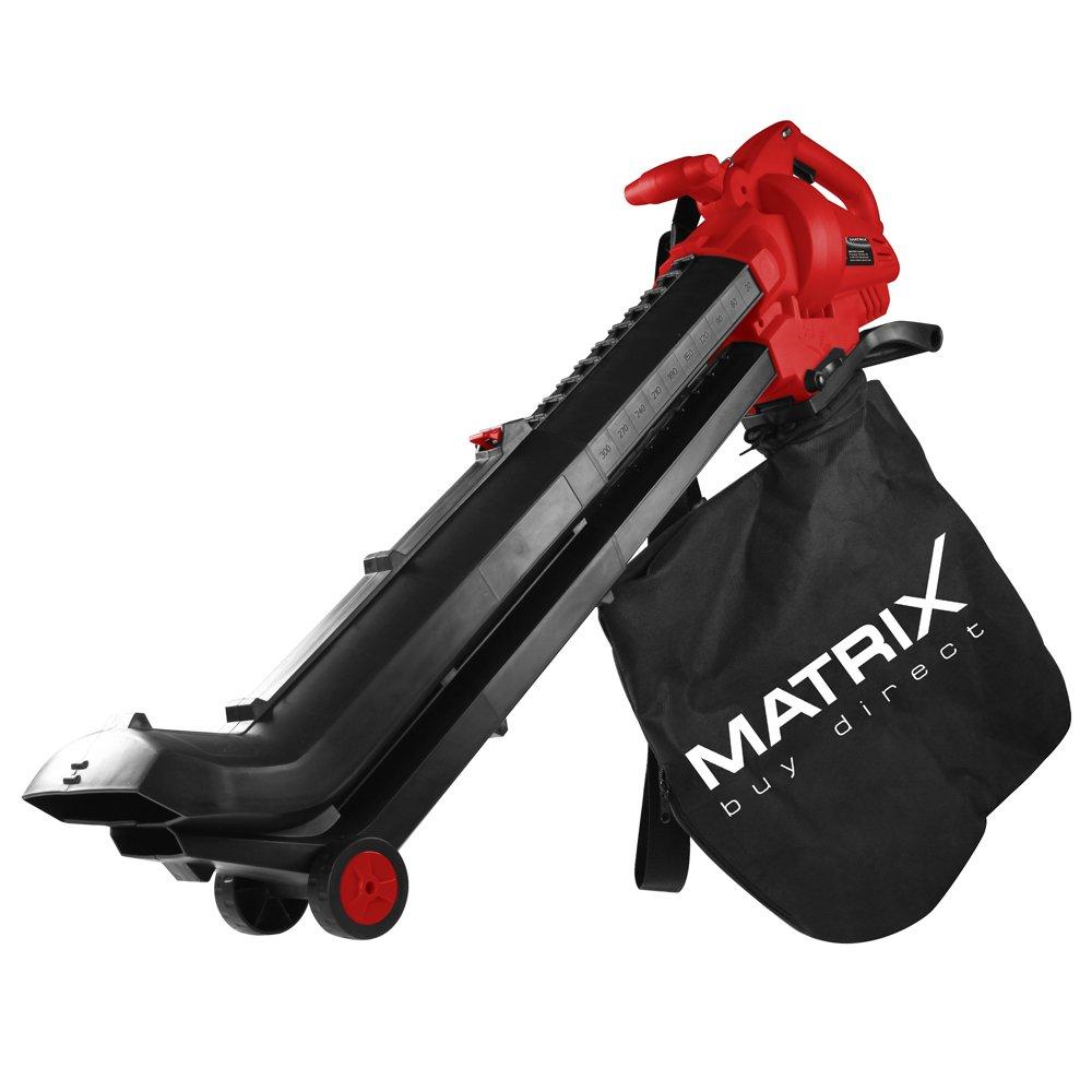 Matrix EGV 2500-3 Elektro Laubsauger/Bläser/ Häcksler (320200281), 240 km/h, 35 L Fangsack