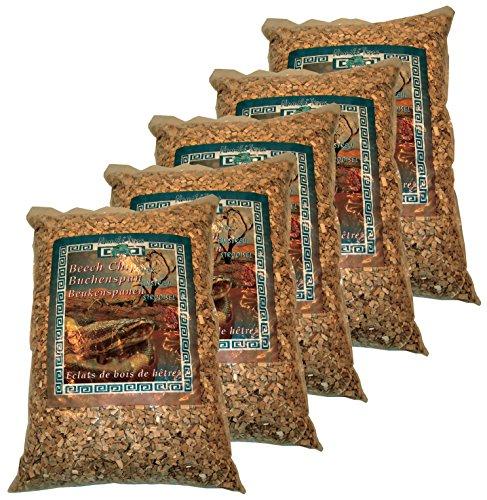 Namiba Terra 50170 Vorteilspack 5 Stück Buchenspan-Einstreu im Bundle, 10-12 mm, Medium, 4 Liter