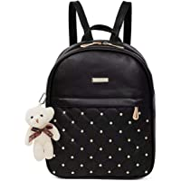 TYPIFY® PU Leather Teddy Keychain Women Backpack Handbag